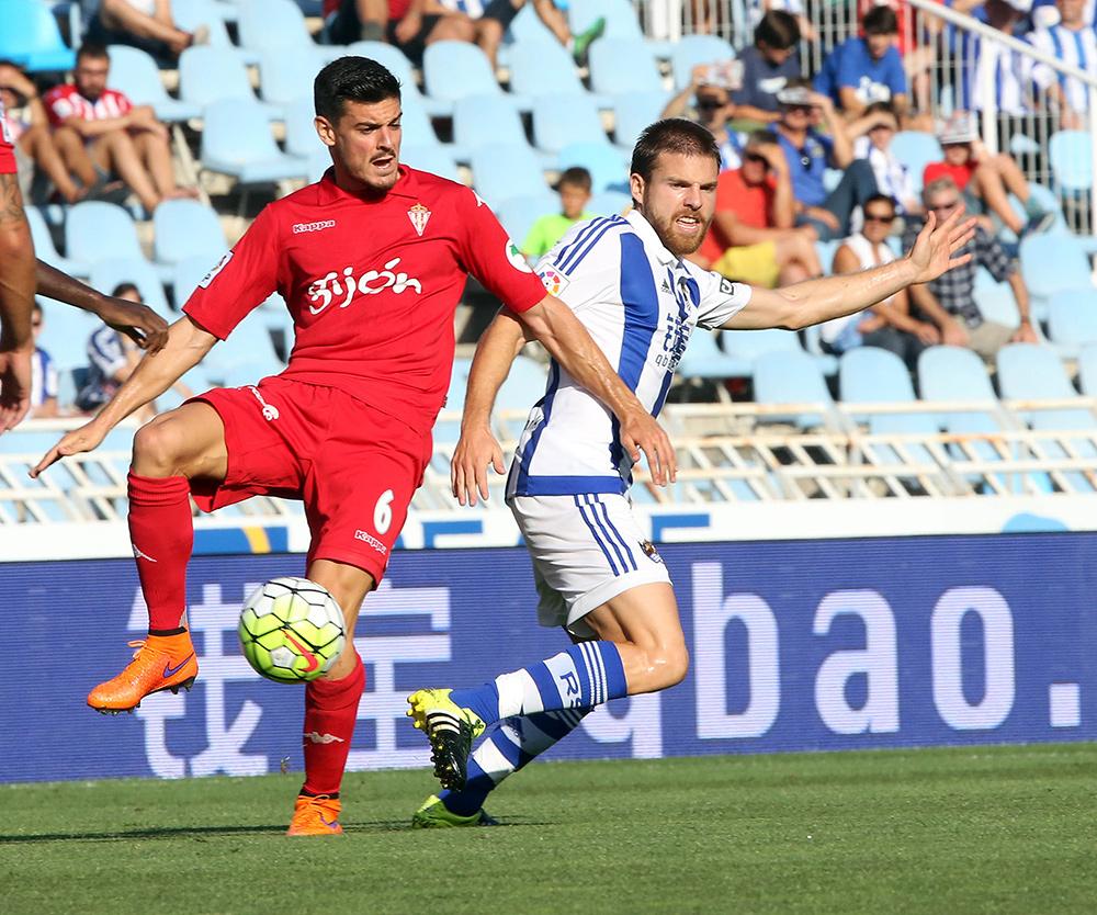 Illarra debuta como titular en Anoeta ante el Sporting de Gijón (0-0)