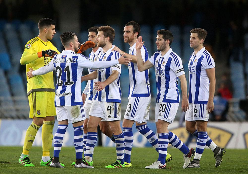 La Real vence al Betis en Anoeta por  2-1 (30-01-16) Primera división