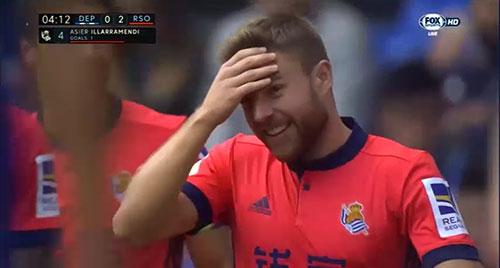 Gol de Illarra (0-2). Deportivo de la Coruña 2 - Real Sociedad 4 (10-09-17) Primera división