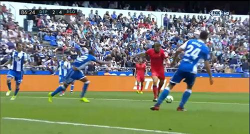 Gol de Illarra (2-4). Deportivo de la Coruña 2 - Real Sociedad 4 (10-09-17) Primera división