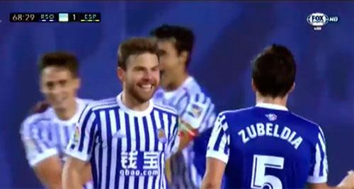 Gol de Illarra 1-1- Real Sociedad 1 - R.C.D. Espanyol 1 (23-10-17) Primera división