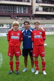 En Mutriku, con mi amigo Joseba Beitia y Lutxo Iturrino