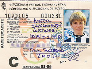 Ficha federativa de Illarra para la temporada 05-06